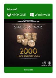 Middle-earth: Shadow of War - 2000 (+200 Bonus) Gold, PC -peli
