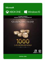 Middle Earth: Shadow of War - 1000 (+50 Bonus) Gold, PC -peli