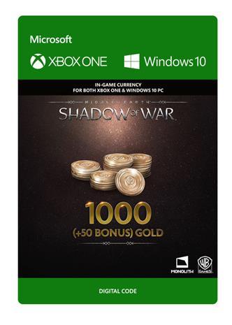 Middle-earth: Shadow of War - 1000 (+50 Bonus) Gold, PC -peli