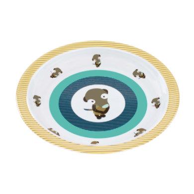 LÄSSIG Melamiinilautanen silikonireunalla, Wildlife Meerkat