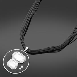 Halsband med stenar