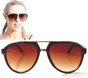 Överdimensionerade Solglasögon -med skölpaddsmönster