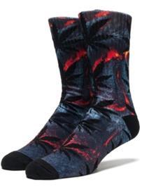 HUF Outdoor Plantlife Crew Socks lava red Miehet