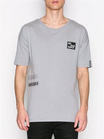 Jack & Jones Jcotheo Tee Ss Crew Neck T-paidat ja topit Harmaa
