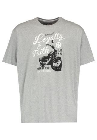 LOYALTY & FAITH B&T SMITHERS Printtipaita grey marl