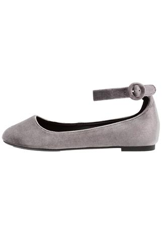 New Look Wide Fit WIDE FIT LOOPY Ballerinat mid grey