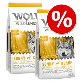 Wolf of Wilderness -säästöpakkaus 2 x 12 kg - Oak Woods - villisika