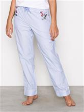 Topshop Embroidered Night Trous Pyjamat & Oloasut Blue