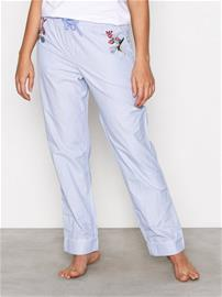 Topshop Embroidered Night Trous Pyjamat & Oloasut Blue