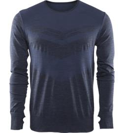 Soc M RUN SEAMLESS LS PUPILBLUE