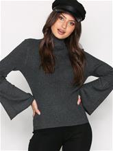 Only onlALMA L/S Bell Sleeve Pullover Kn Neulepuserot Tummanharmaa