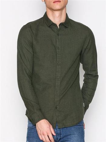 Only & Sons onsTUDOR Ls Melange Shirt Noos Kauluspaidat Ruskea