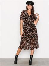 New Look Button Front Floral Dress Maksimekot Black