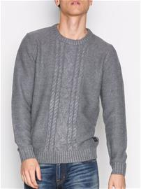 Jack & Jones Jorbim Knit Crew Neck Puserot Harmaa