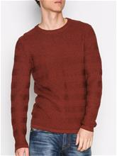 Selected Homme Shhpark Camp Crew Neck Puserot Ruskea