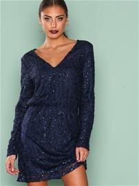 NLY Trend Sparkly V Neck Dress Loose fit Sininen