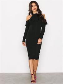 Ax Paris Cold Shoulder Choker Dress Kotelomekot Black