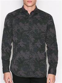 Jack & Jones Jorbotanic Shirt Ls Kauluspaidat Tummanharmaa