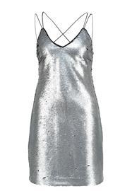 New Look GO MATTE SEQUIN SLIP Juhlamekko silver