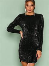 NLY Trend Power Sequin Dress Paljettimekot Musta