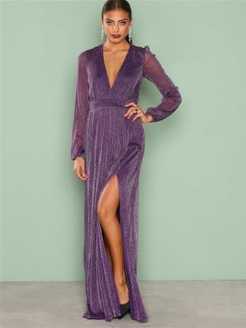 NLY Eve Shimmery Maxi Gown Maksimekot Violetti