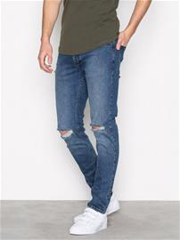 Dr Denim Clark Worn Ash Blue Damaged Farkut Deniminsininen