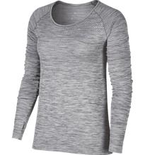 Nike W DF KNIT TOP LS COOL GREY/REFL SIL
