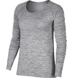 Nike W DF KNIT TOP LS COOL GREY/REFL SIL