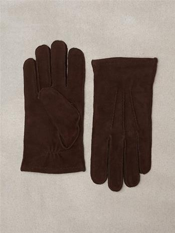 Gant O1. Classic Suede Gloves Käsineet Dark Brown