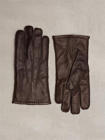 Gant O1.Classic Leather Gloves Käsineet Dark Brown