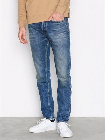 Calvin Klein Jeans Straight Taper Peppery Farkut Deniminsininen