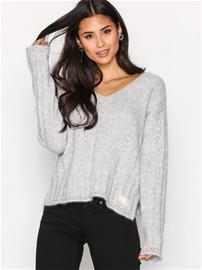 Odd Molly Clockwise Sweater Neulepuserot Light Grey Melange