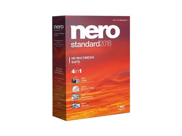 Nero 2018 Standard, ohjelmisto