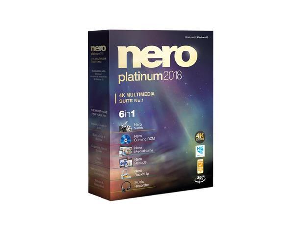 Nero 2018 Platinum, ohjelmisto