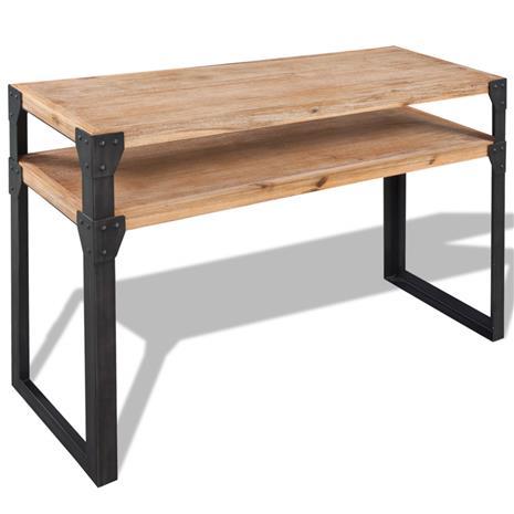 vidaXL Sivupöytä Täysi Akaasiapuu 120x40x85 cm