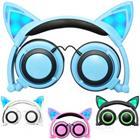 Kissankorva-kuulokkeet / hiuspanta LED-valoilla - Musta