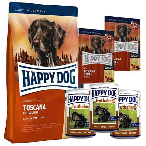 yhteispakkaus happy dog toscana kuiva m rk ruoka herkut 4 kg 3 x 400 g 6 x 10 g. Black Bedroom Furniture Sets. Home Design Ideas