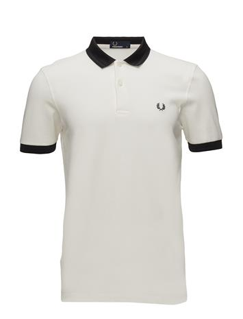 Fred Perry Collar Pique Shirt SNOW WHITE