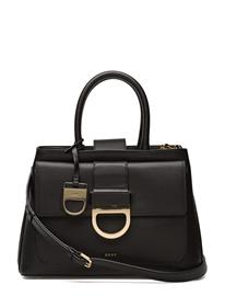 DKNY Bags Lynn Flap Satchel BLACK