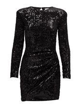 Mango Pursed Sequined Dress BLACK