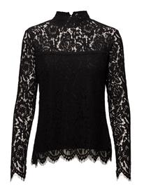 MOS MOSH Piper Lace Blouse BLACK