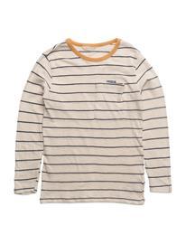 Mango Kids Chest-Pocket Striped T-Shirt NATURAL WHITE