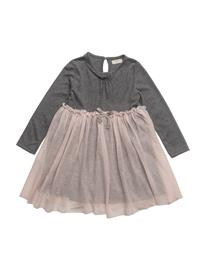 Mango Kids Tulle Skirt Dress DARK GREY