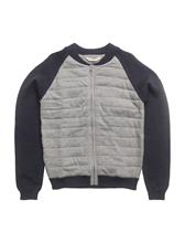 Mango Kids Quilted Panel Cardigan MEDIUM GREY