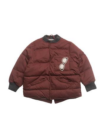 Mango Kids Pocket Quilted Jacket DARK RED