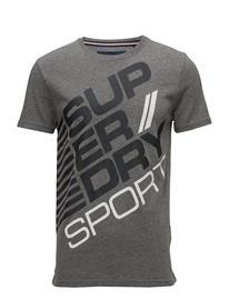 Superdry Sports Diagonal Tee SPORTS DK GREY GRIT/CHARCOAL