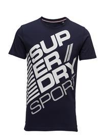 Superdry Sports Diagonal Tee NAVY/OPTIC