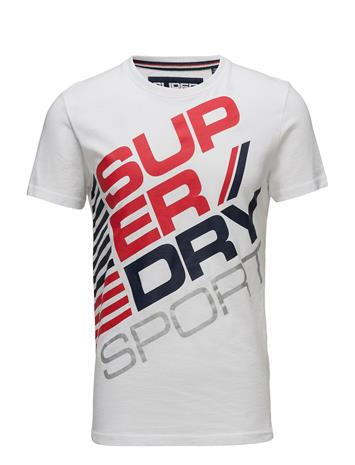 Superdry Sports Diagonal Tee OPTIC/NAVY