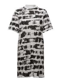 Cheap Monday Smash Dress Paint Stripe BLACK / WHITE