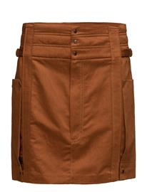 Mango Organic Linen Cargo Skirt RUST - COPPER